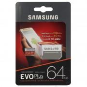 Micro SD SAMSUNG 64Gb+Adap.SD EVO C10 FHD (MC64GA/EU)