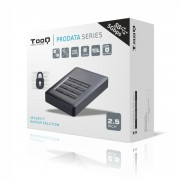 """Caja HDD TOOQ 2.5"""" Sata USB3.0 Negra (TQE-25DES01B)"""