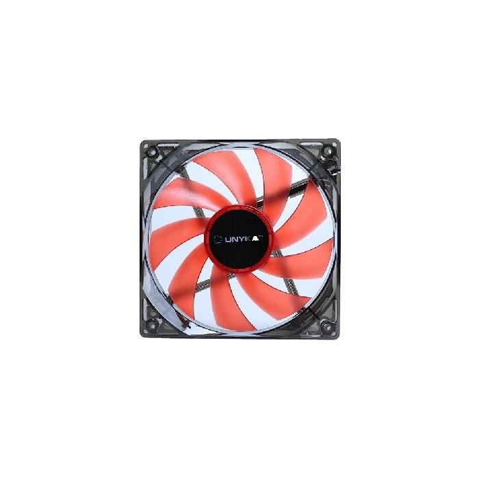 Ventilador 12x12 UNYKA LED Rojo (51792)
