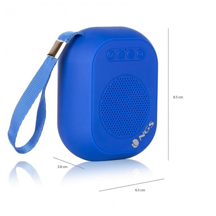 Altavoz NGS Mini Portátil Bluetooth 3W ROLLER DICE BLUE