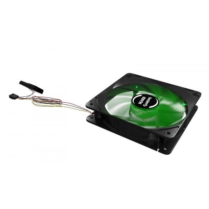 Ventilador TACENS Mars 12x12 Gaming Led Verde (MF12G)