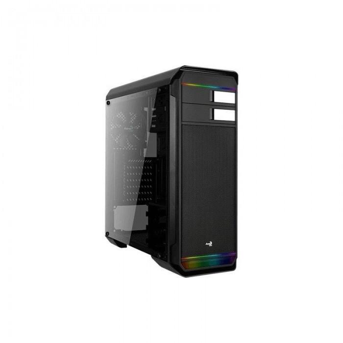 Semitorre AEROCOOL 500G RGB USB3 Negro (AERO500GRGB)