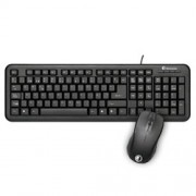 Kit Keyboard + Mouse Qi USB Black (50520)