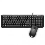 Kit Teclado + Ratón Qi USB Negro (50520)