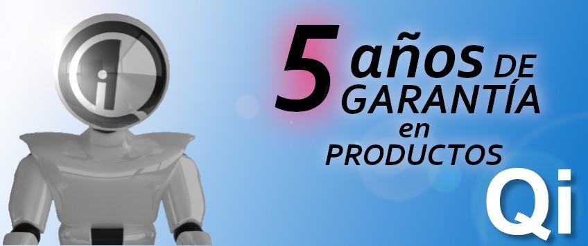 Garantía de 5 años en productos Qi