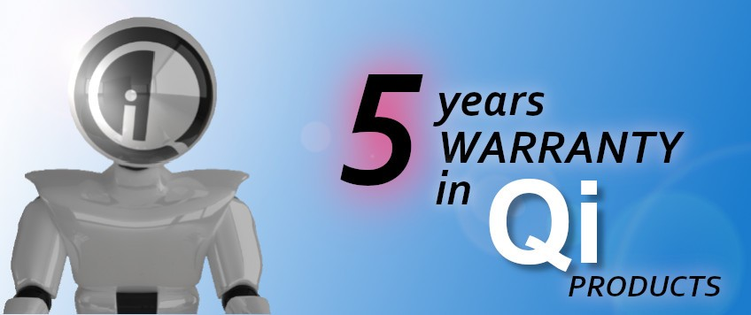 5 years warranty in QI products